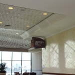 Art Deco I, TL-0026, Two Tone Finish, Bone White, Glaze Coat, Hotel, Conference Center, Convention Center, vegas, install, installation, contemporary, geometric