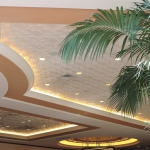 Art Deco 2, TL-0027, Two Tone Finish, Bone White, Glaze Coat, Hotel, Conference Center, Convention Center, vegas, install, installation, contemporary, geometric