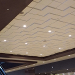 Dallas Convention Center, Texas, Installation, Square Drop 1 Ceiling Tile TL-0054, Square Drop 2 Ceiling Tile TL-0053, Square Drop Ceiling Tile 3 TL-0052, Plaster, Ornamental Contemporary, glass fiber