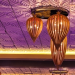 Wave A, TL-0093, Wave B, TL-0094, Wave A Smooth Center, TL-0095, Wave B Smooth Center, TL-0096, Cowlitz, Casino, Ilani Resort & Casino, Ceiling, Tile, Chandelier, Pattern,
