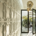 Above View Inc., Gothic Tegular Ceiling Tile, TL-0067, Plaster, Artisan, Ornamental, Traditional, Standard White, Residence, Installation, Casa Cabelleros, Jill Lewis Architect, Lara Swimmer Photography, Palm Pacific Construction, Palm Springs, CA